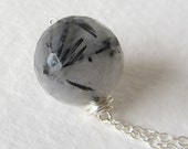 Rutilated Quartz Necklace Sterling Silver