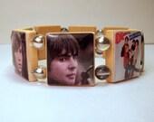 THE MONKEES Bracelet / I'm a Believer / Davy Jones / Mike Nesmith / Mickey Dolena / SCRABBLE Handmade Jewelry - 2