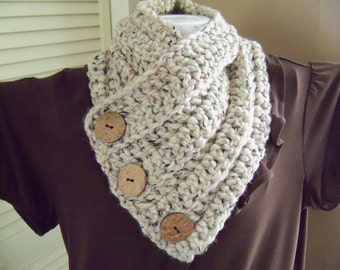 Sale Chunky Crochet Scarf Infinity Scarf Cowl Neck Scarf Accessories Handmade Womens Accessory