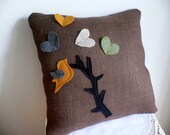 Art Decoration for Home...Throw Pillow...Unique Design Pillow...Singing Bird ... Throw Decorative Pillow ...