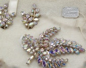 Sherman ab leaf brooch and earring set - Sherman tag not included