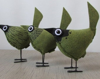 Pip Bird -Green Wool Felt