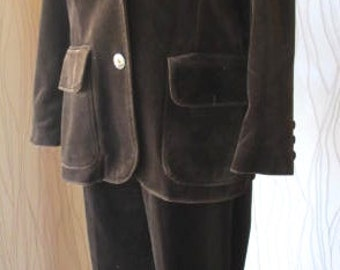 Vintage Act III Brown Velvet Three Piece Outfit