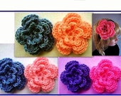 CROCHET PATTERN flower num 398.. 3 Layer Rose, make them in various sizes, permission to sell them