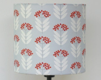 Pale Blue Elderberry lamp shade drum lampshade