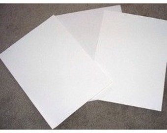 "White Static Cling Crafts, Vinyl 3- 12"" x 12"" Sheets/Rolls"
