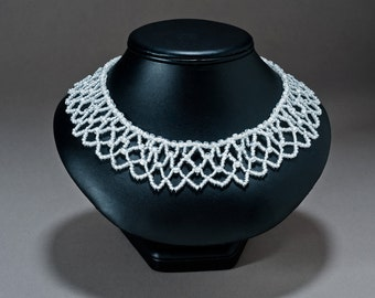 Lacy collar necklace