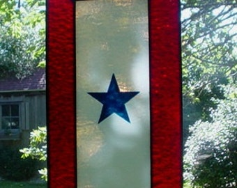 Stained Glass Service Flag or Blue Star Banner