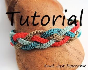 Micro Macrame Tutorial - Braids Bracelet - Pattern - DIY - Jewelry Making - DIY