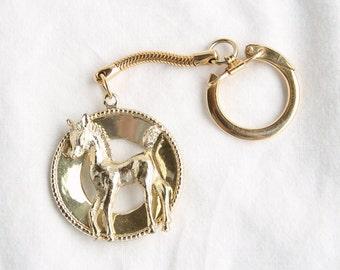 Horse Foal Keychain Vintage Foal Figural Goldtone Key Chain Holder