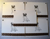 PUG dog note cards card gift hand crafted 5 pack rescue group