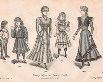 1899 Double sided Young Womens Fashion Print
