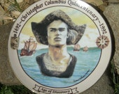 Collectible Christopher Columbus Plate - Vintage Collectors Quincentenary Plate - Vintage Serving Plate - Collectible Plate - Home Decor