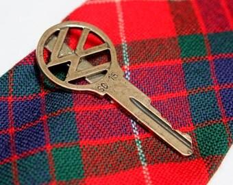 Vintage Volkswagen Key Tie Clip Clasp Bar VW Car Key 164