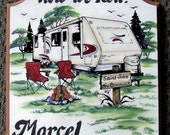 Travel Trailer RV Camper  PERSONALIZED Camping Sign   Weatherproof   Great GIFT
