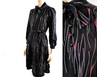 JANREV French Vintage 70s Secretary Dress
