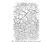 FINE CRACKLE - realistic crackle - CLING rubber stamp by Cherry Pie