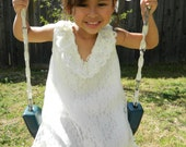 Off White, Lace Dress, Gown for Girls