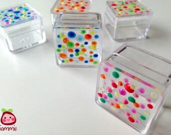 Gift box, favor, boxes, plastic box, mini box, trinket, colorful, supplies, small box, little box, tiny box, party, wedding, Set of FIVE