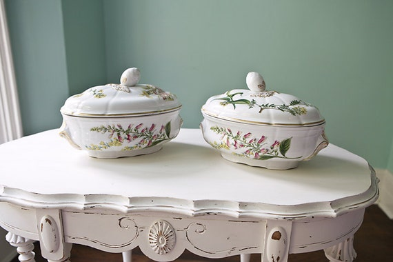 Items similar to pair spode caserole casserole tureen stafford flowers oven to table vintage