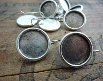Antiqued Silver 18mm Earring Setting (2)