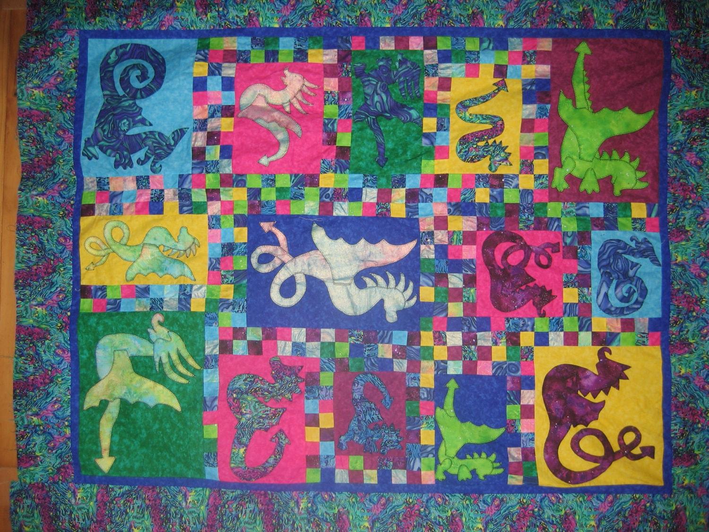 ePattern - Quilt pattern - Dragons Alive - fantastic