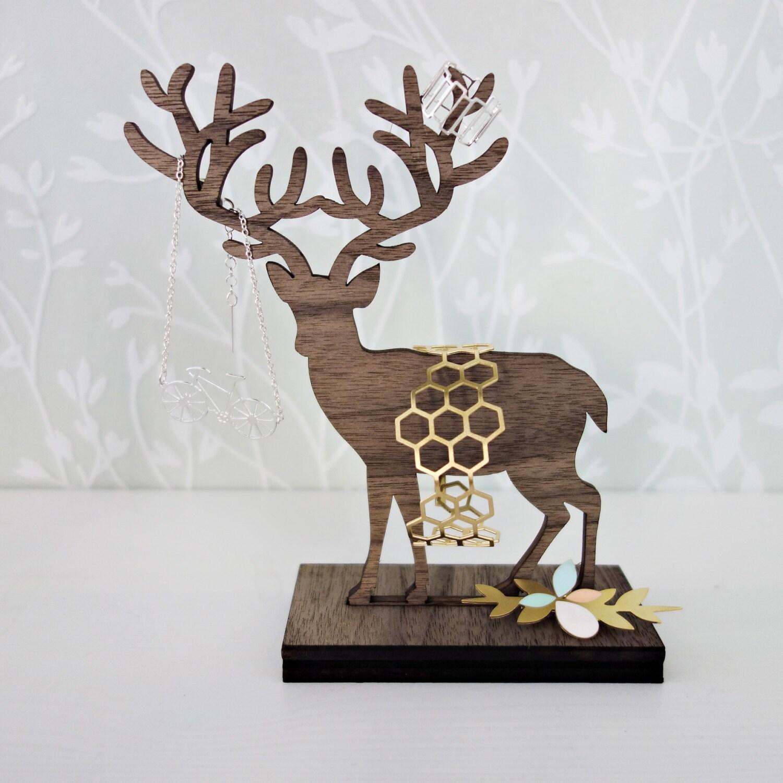 standing deer jewelry organizer jewelry holder jewelry. Black Bedroom Furniture Sets. Home Design Ideas