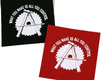 PATCH Anarcho Crafter Iron-On 3.75 x 4 inches