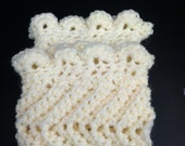Boot cuffs ivory chevron pattern accessory