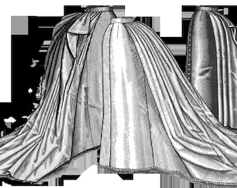 Ladies 1887 Imperial ballgown Skirt sewing Pattern NEW release