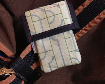 Cell Phone Holster, Stash Bag, Ipod or Camera Pouch for Messenger Bag