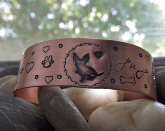 puppy love bracelet, made to order and custom to your doggie choice
