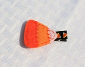 SALE-- Festive Candy Corn Clippie, Yellow, Orange, and White Hair Clip
