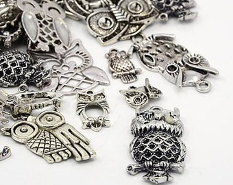 Ultimate Owl Charm Mix V - 35 pieces - #O120