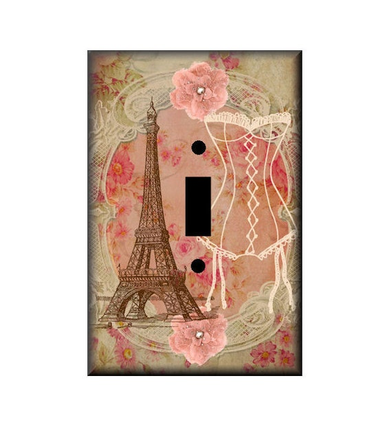 Paris Light Switch Art Cover Sweet Memories By