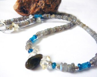 Creative Expression - Necklace  / Apatite and Labradorite