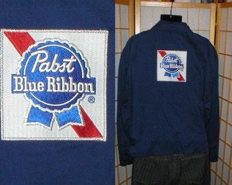 50s rayon gaberdine Pabst beer jacket mens size xlarge / 54 / 56