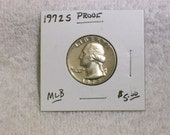 Washington Quarter Proof / 1972 S  /  Uncirculated