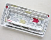 Small Arrow Tail Nesting Tray in Bold Tones - (Made to Order)