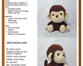 PDF Amigurumi Pattern:  Monkey Boy