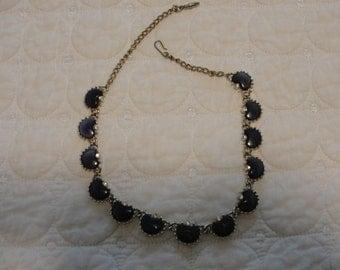 vintage   Navy Blue Coro necklace