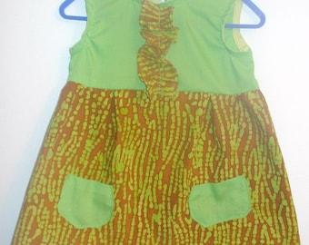 6 month Sundress, Green Spriggles