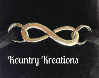Ponytail Holder/ Hair Elastic Tie/Bracelet / Pony Tail Holder/Arm Candy Hair/INFINITY Bracelet / Pony Tail Holder (Ready to Ship)