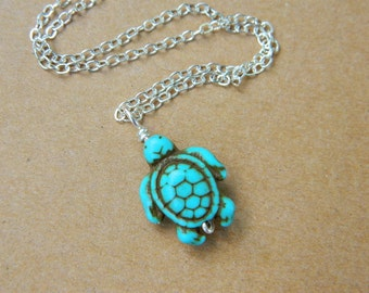 Turtle Pendant. To Order -Turquoise- Blue, Aqua, Ocean, Sea, Brown, Bronce, Dark, Fall, Animal, Jewelry Necklace, Turquoise Jewelry