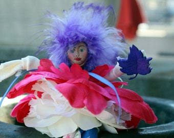 Flower Fairy Doll, Fairy Briadal Shower Favor, Woodland Fairy, Christmas Fairy
