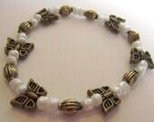 Beaded Butterfly Stretch Bracelet