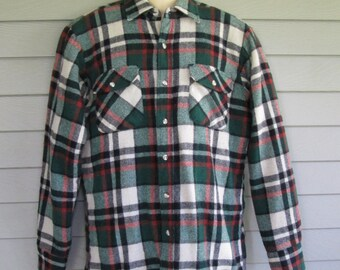 Vintage Outback Rider Plaid Wool Outdoor Shirt