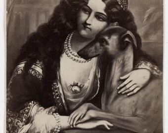 1860s - 1870s Antique CDV. Persian's Pet