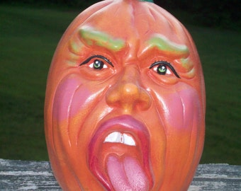 Ceramic  Ugly Face JACK o LANTERN Pumpkin