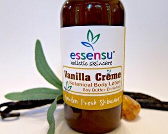 Vanilla Creme Natural Botanical Body Lotion | Vegan | Nourishing Luxury Formula | Absorbs Quickly | No Parabens or Phthalates - 4 oz